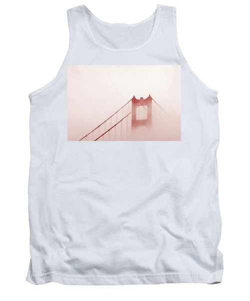 Tank Top featuring the photograph Foggy Golden Gate by Art Block Collections