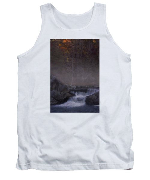 Tank Top featuring the photograph Foggy Morning At Linville Falls by Ellen Heaverlo