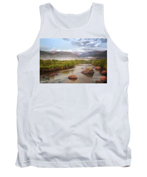 Foggy Morning In Moraine Park Tank Top by Ronda Kimbrow