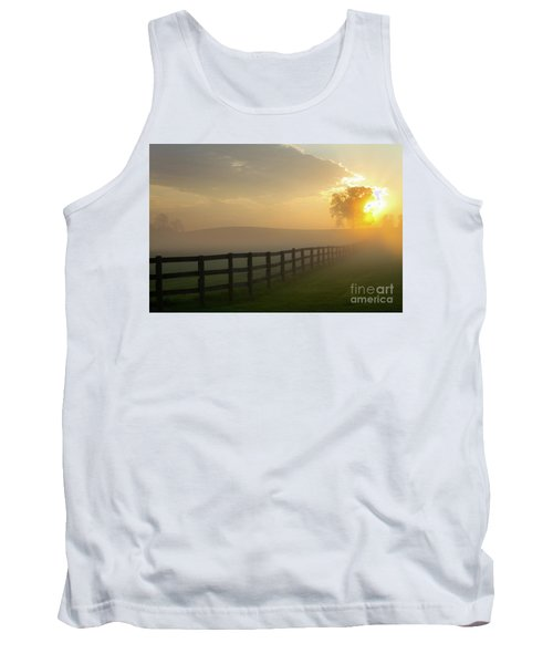 Foggy Pasture Sunrise Tank Top