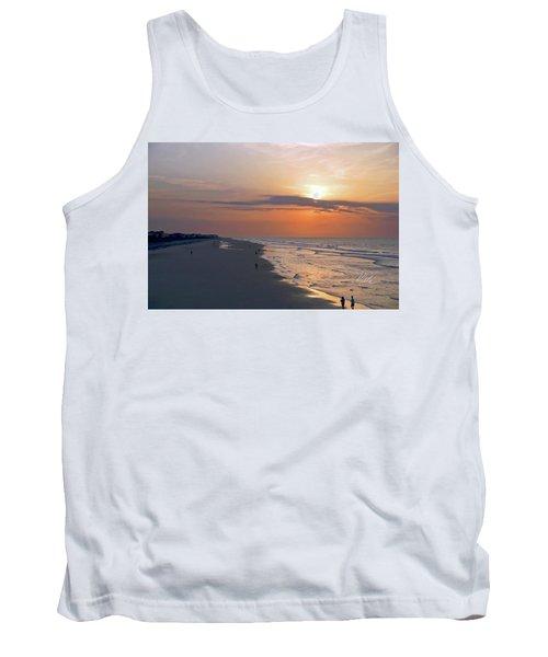 Folly Beach Sunrise Tank Top by Meta Gatschenberger