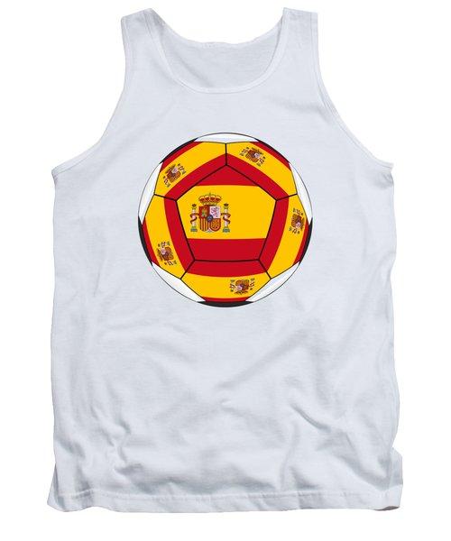 Football Ball With Spanish Flag Tank Top