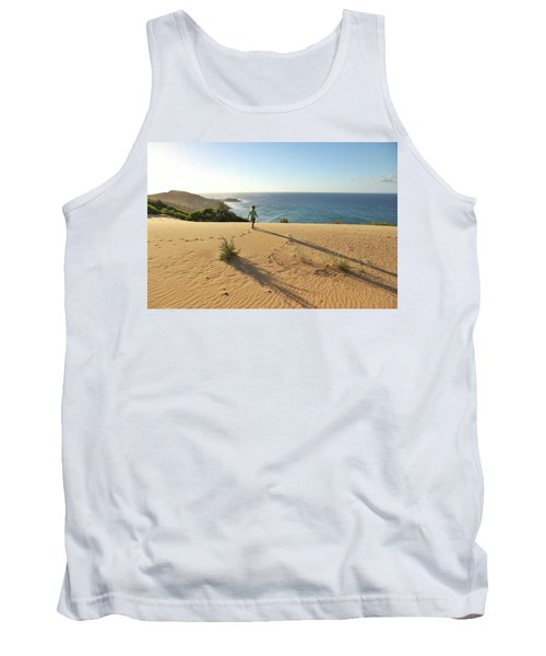 Footprints In The Sand Dunes Tank Top