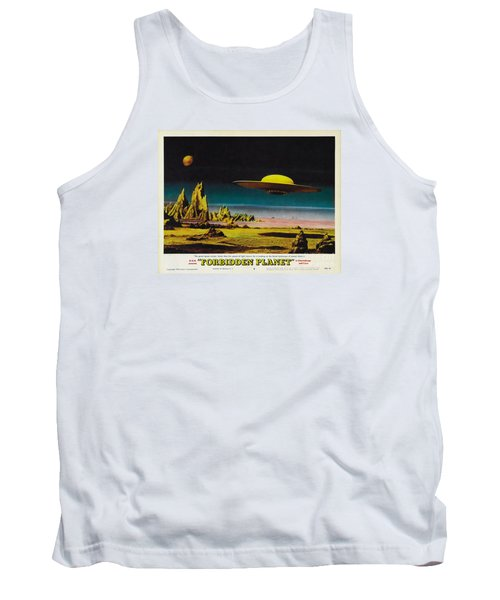 Forbidden Planet In Cinemascope Retro Classic Movie Poster Detailing Flying Saucer Tank Top