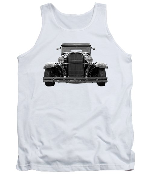 Ford Coupe Head On In Black And White Tank Top