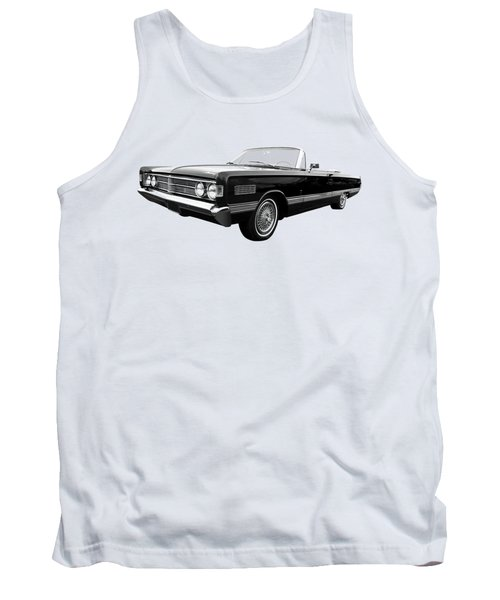 Tank Top featuring the photograph Ford Mercury Park Lane 1966 Black And White by Gill Billington