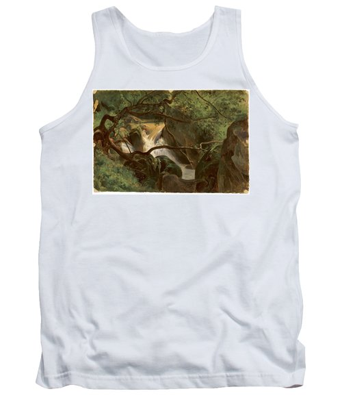 Forest Interior With A Waterfall Papigno Tank Top