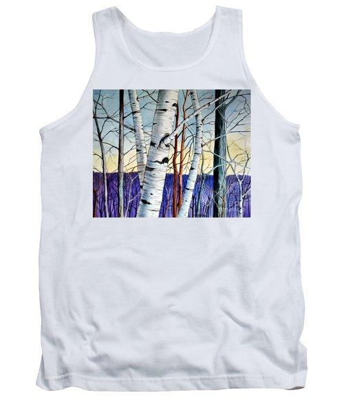 Tank Top featuring the painting Forest Of Trees by Christopher Shellhammer
