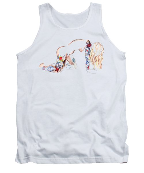 Forever Amber - Tattoed Nude Tank Top by Carolyn Weltman