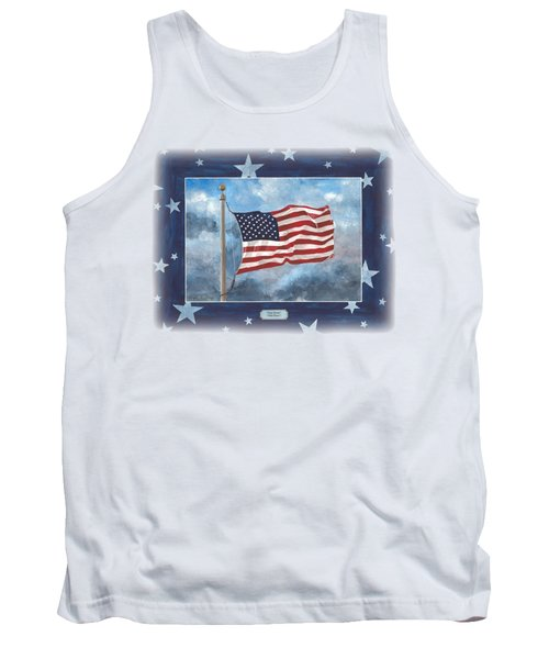 Forever Old Glory  Tank Top by Herb Strobino