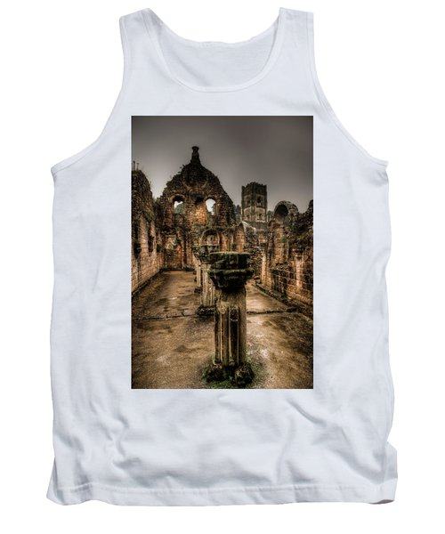 Fountains Abbey In Pouring Rain Tank Top
