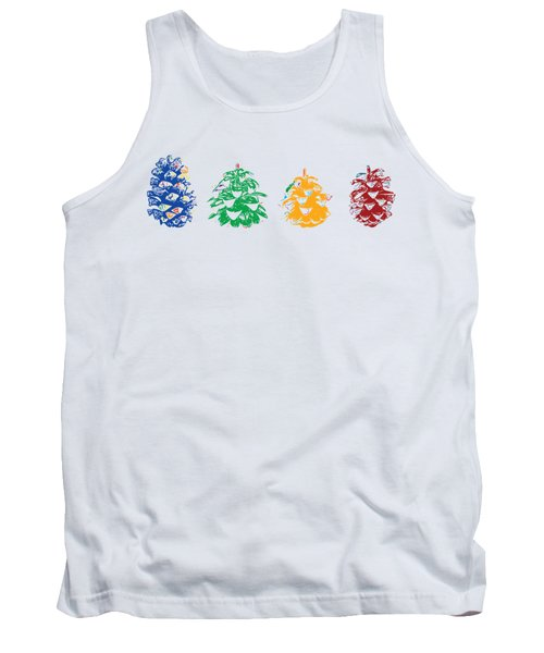 Four Pine Cones Tank Top by Stan  Magnan