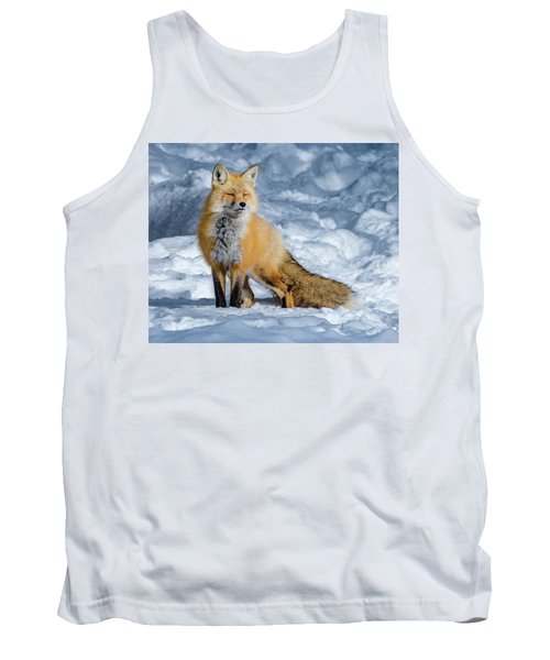 Fox On A Winter Afternoon Tank Top