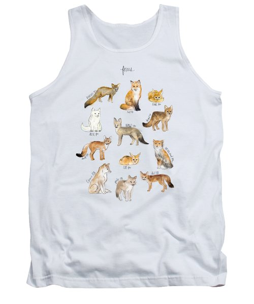 Foxes Tank Top by Amy Hamilton