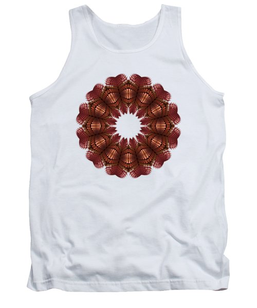 Fractal Wreath-32 Salmon T-shirt Tank Top