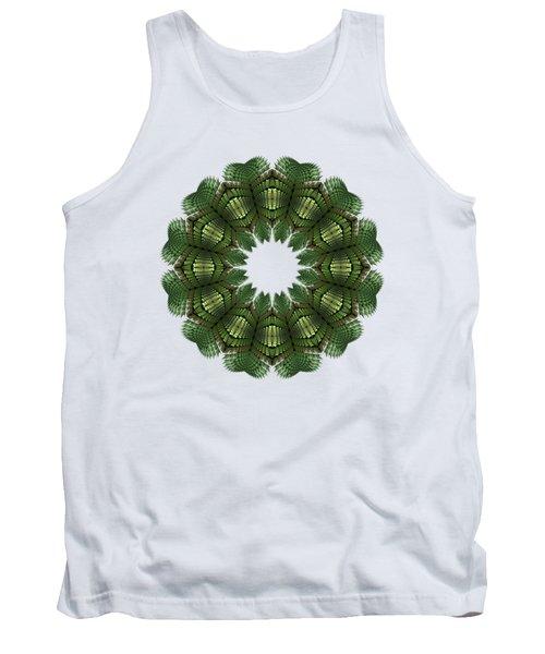 Fractal Wreath-32 Spring Green T-shirt Tank Top
