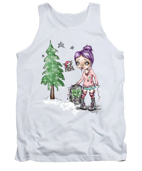Tank Top featuring the painting Fran Tick And Dave Prepare For Holiday by Lizzy Love