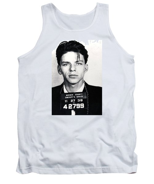 Frank Sinatra Mug Shot Vertical Tank Top