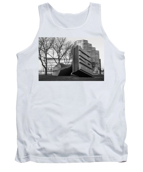 Free Stamp In Cleveland In Black And White  Tank Top by John McGraw