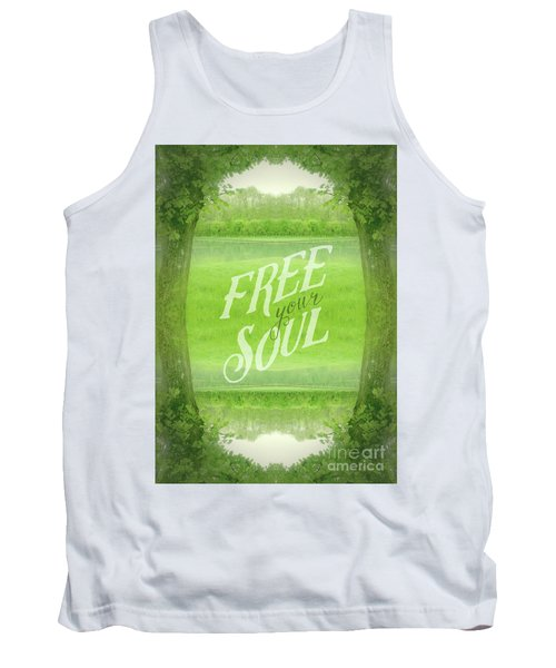 Free Your Soul Grand Canal Forest Fontainebleau Chateau Tank Top