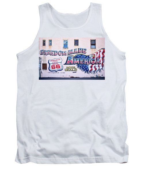 Freedom Made America - Mural Art On Route 66 Tank Top