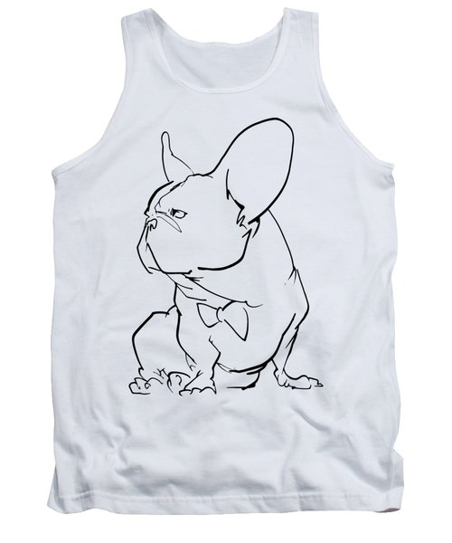 French Bulldog Gesture Sketch Tank Top