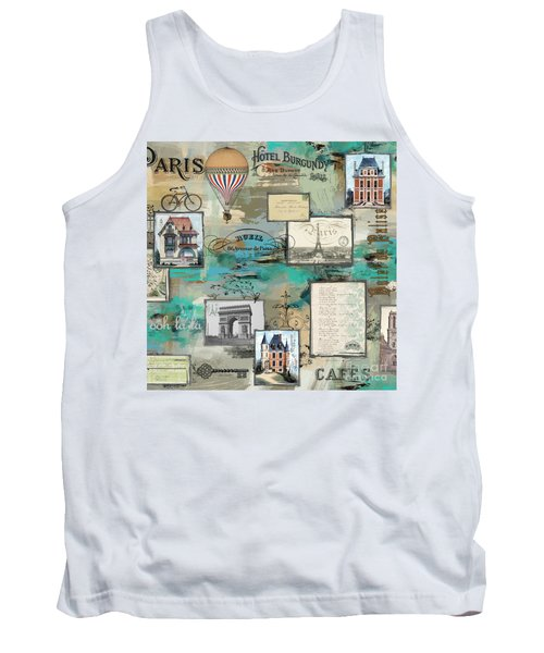 French Collage-c Tank Top