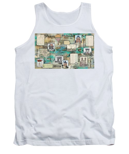 French Collage-a Tank Top