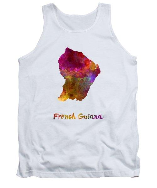 French Guiana In Watercolor Tank Top