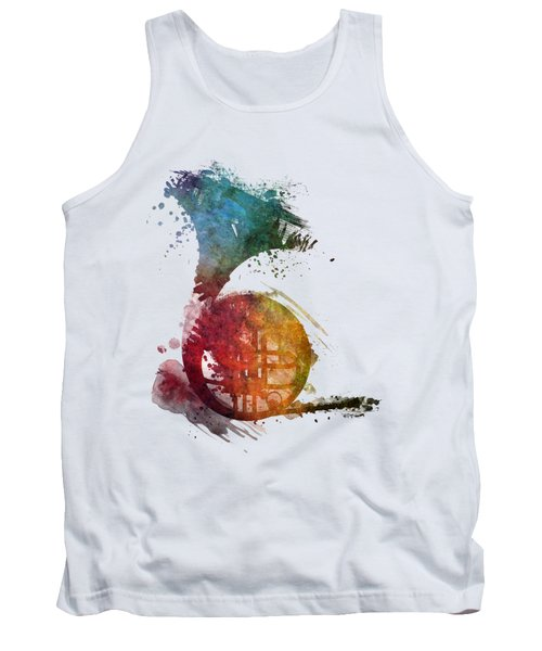 French Horn Colored Musical Instruments Tank Top by Justyna JBJart