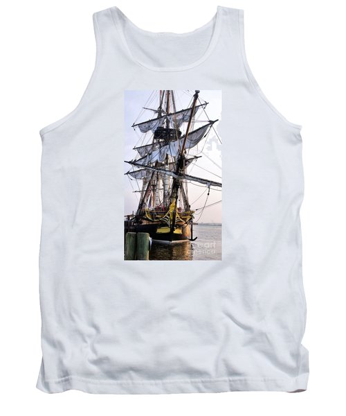 French Tall Ship Hermione  Tank Top by John S