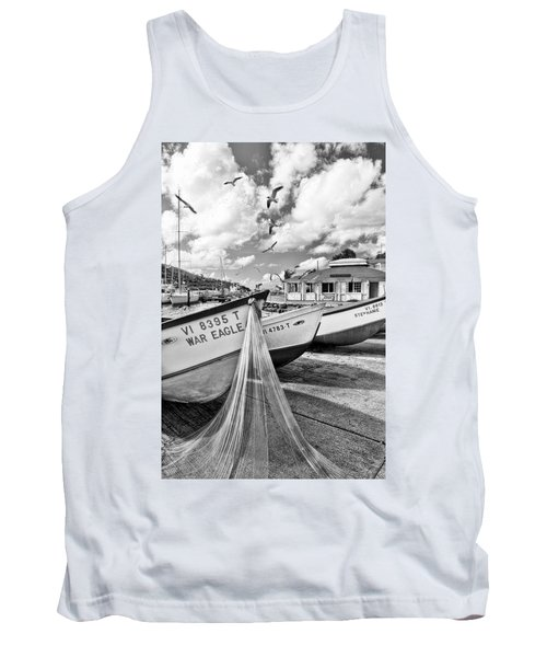 Frenchtown Fishing Boats 1 Tank Top