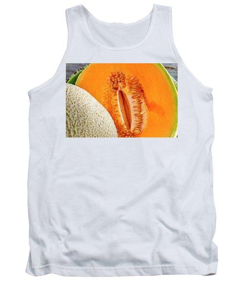 Fresh Cantaloupe Melon Tank Top by Teri Virbickis