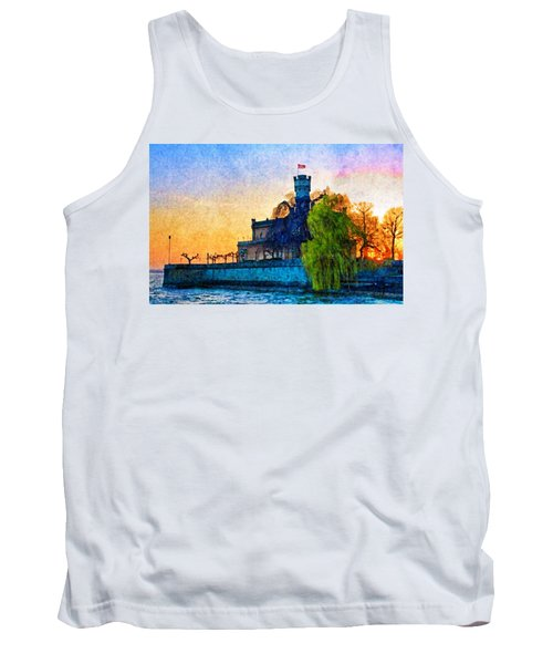Friedrichshafen Castle At Sunset Tank Top