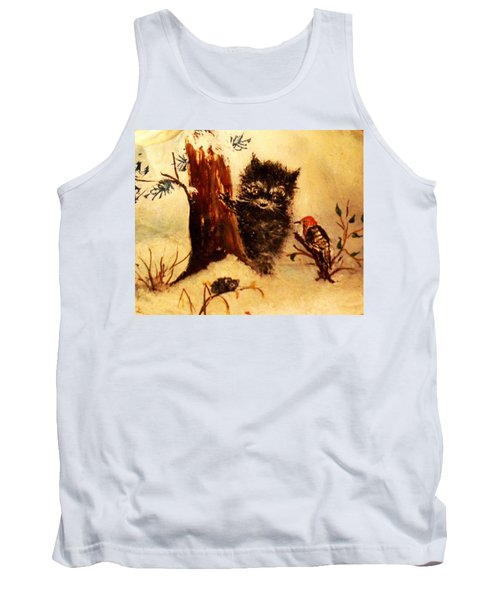 Tank Top featuring the painting Friends Forever by Hazel Holland