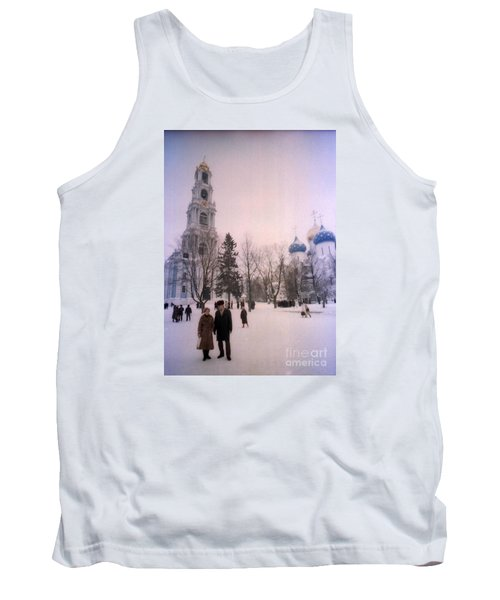 Friends In Front Of Church Tank Top by Ted Pollard