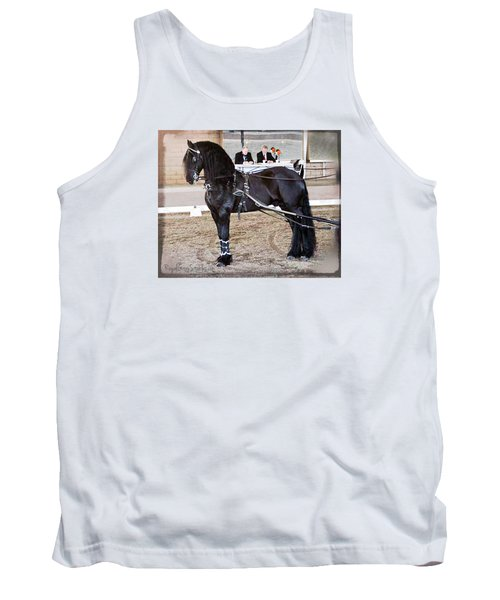 Friesian Stallion Under Harness Tank Top