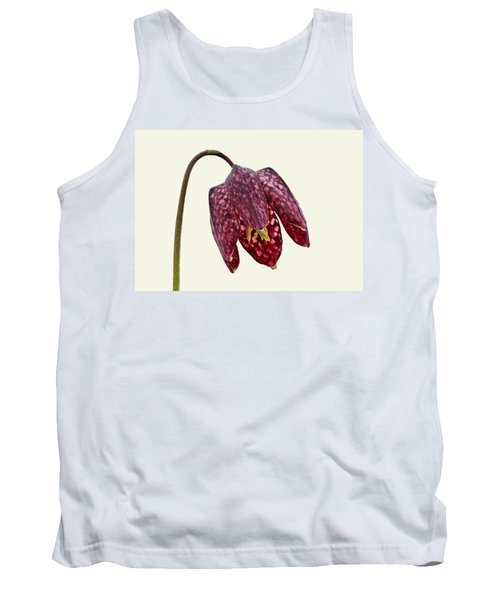 Fritillaria Meleagris Cream Background Tank Top by Paul Gulliver