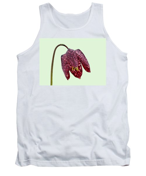 Fritillaria Meleagris Green Background Tank Top by Paul Gulliver