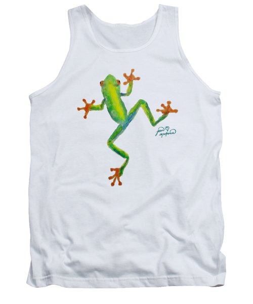 Red Eyed Tree Frog By Jan Marvin Tank Top