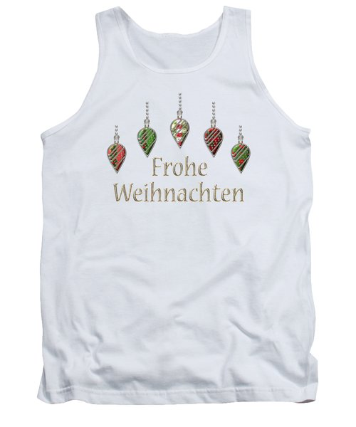 Frohe Weihnachten German Merry Christmas Tank Top by Movie Poster Prints