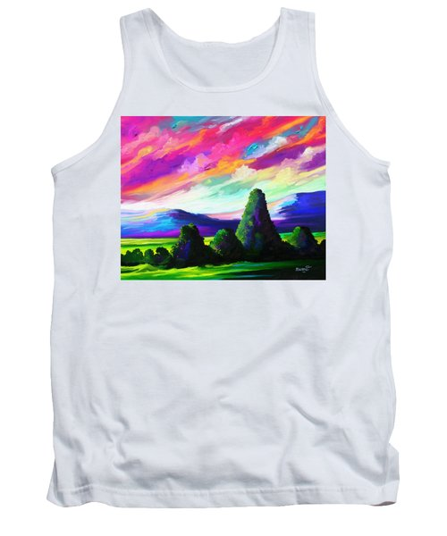 Tank Top featuring the painting From A Distance by Anthony Mwangi