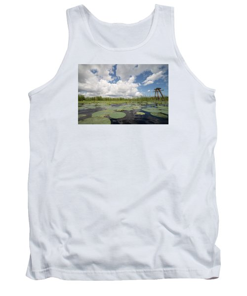 From A Frog's Point Of View - Lake Okeechobee Tank Top by Christopher L Thomley