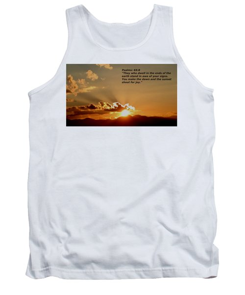 From The East To The West Tank Top