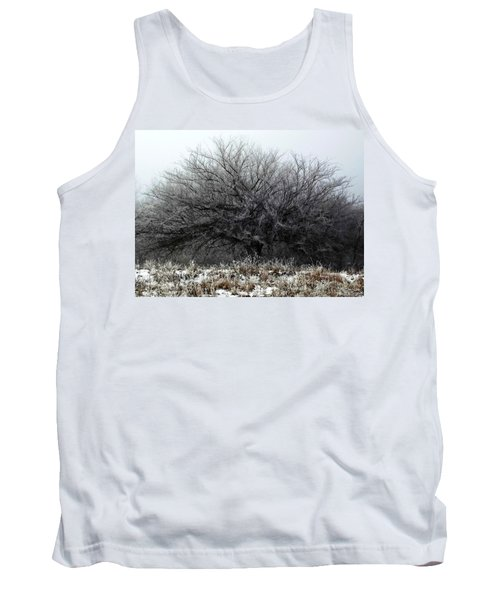 Tank Top featuring the photograph Frosted Elm by Shelli Fitzpatrick