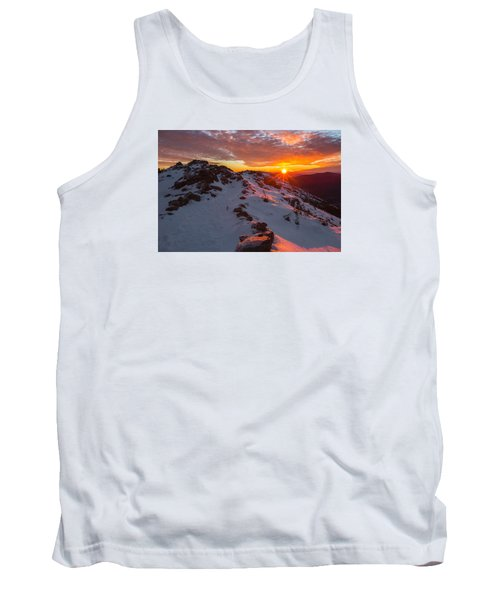 Frosty Alpine Sunset Tank Top