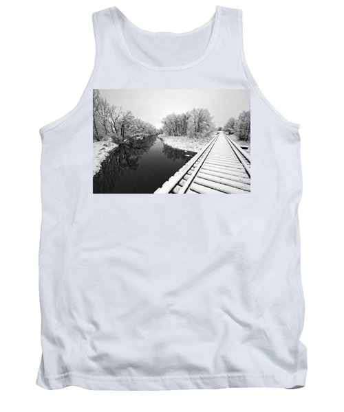 Frosty Morning On The Poudre Tank Top by James Steele