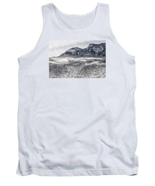 Snowy Grandfather Mountain - Blue Ridge Parkway Tank Top