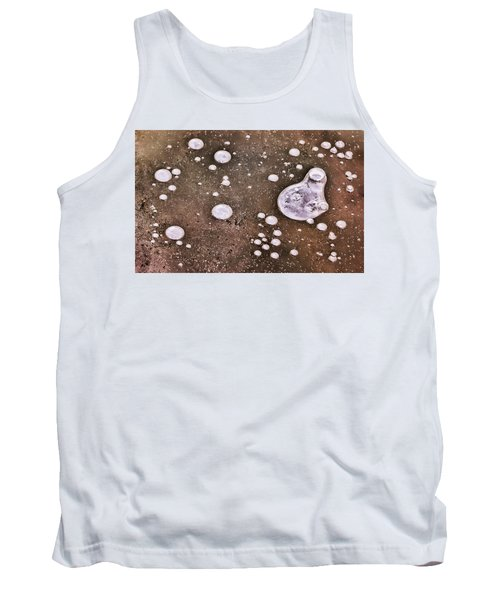 Tank Top featuring the photograph Frozen Water Drops Abstract by Gary Slawsky