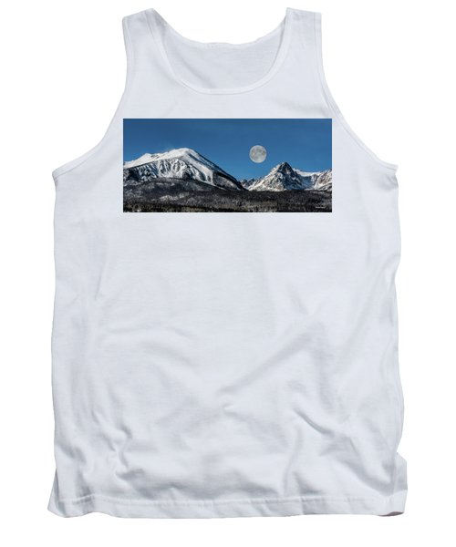 Full Moon Over Silverthorne Mountain Tank Top